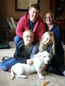 Brady with family