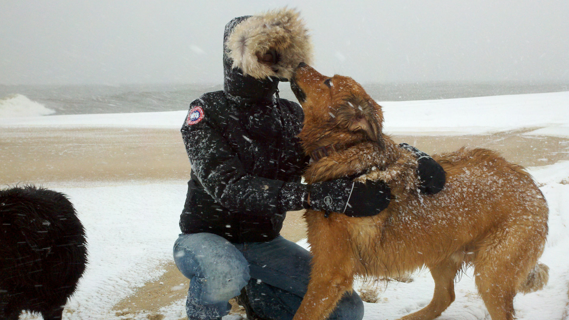 Me and breaker in snowstorm 11